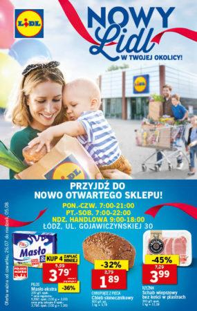 Lidl Łódź Gojawczyńskiej 30 otwarcie, promocje, konkurs, ceny
