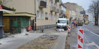 Nowy chodnik na ulicy Kasprzaka
