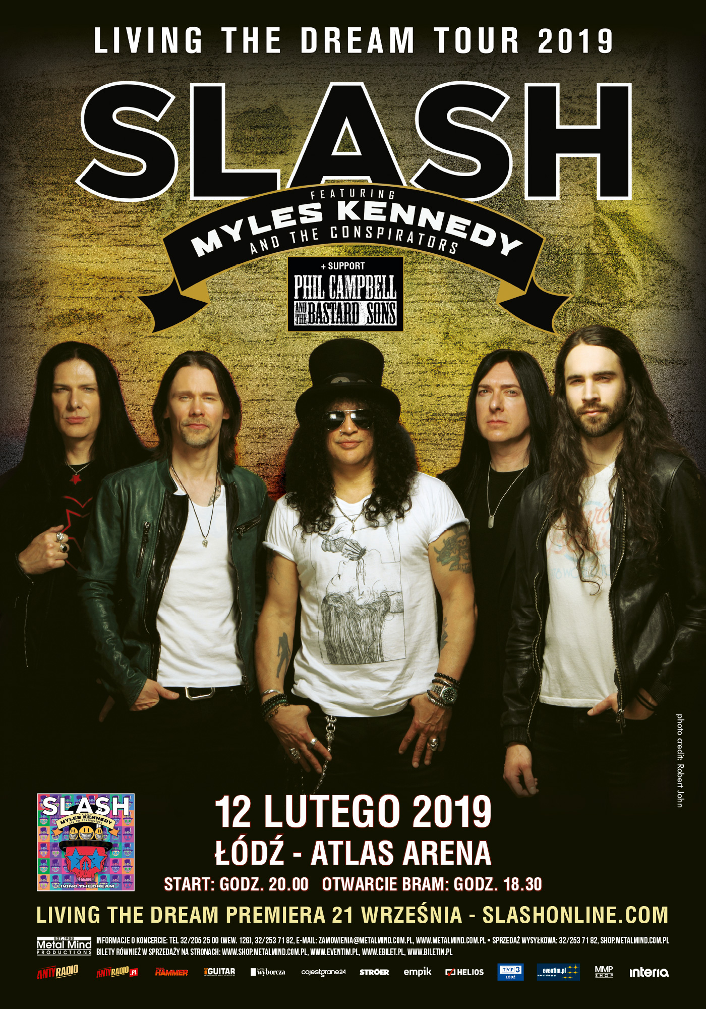 Koncert Slash feat. Myles Kennedy & The Conspirators w Łodzi
