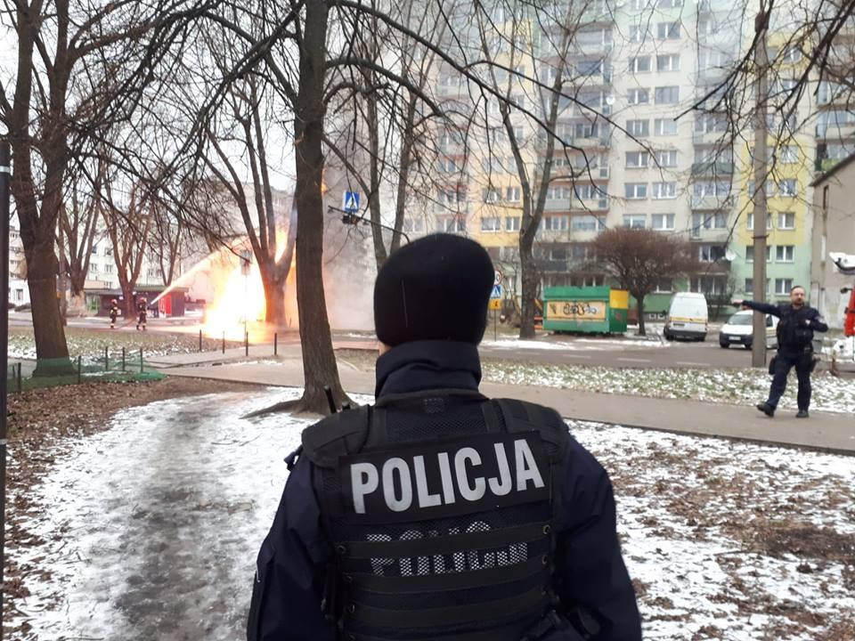 Wybuch gazu na ul. Lutomierskiej