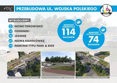 Łódź buduje ul. Wojska Polskiego
