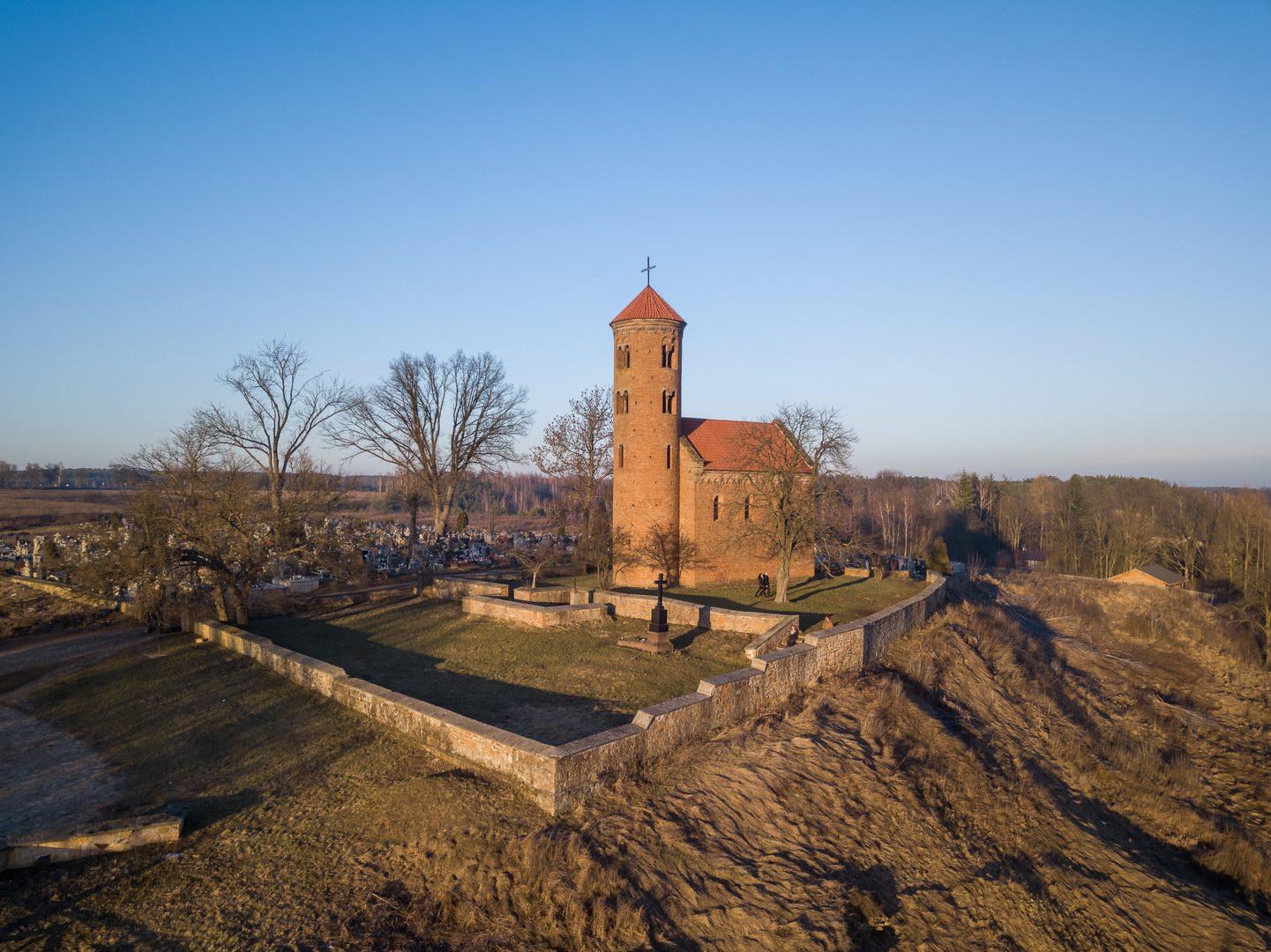 Wycieczka rowerowa do Spały i Inowłodza - Kościół Św. Idziego w Inowłodzu