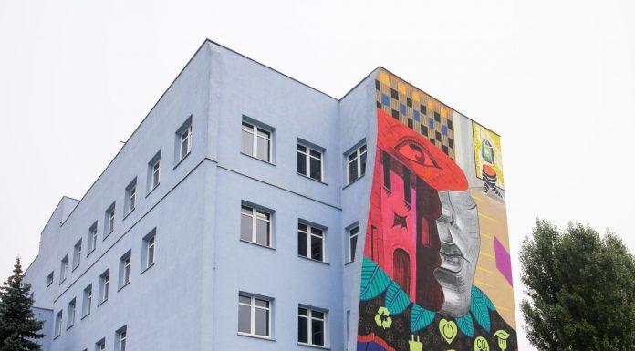 Spółdzielnia Elektrotechniczna POKÓJ - mural Magdaleny Ćwik