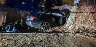 Wypadek BMW w Łodzi