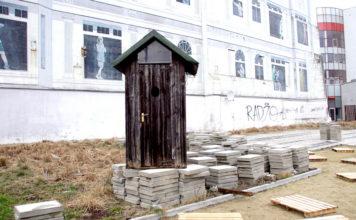 Sławojka na ulicy Piotrkowskiej - Protest Piotra Misztala
